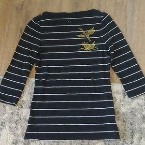 Striped swan shirt